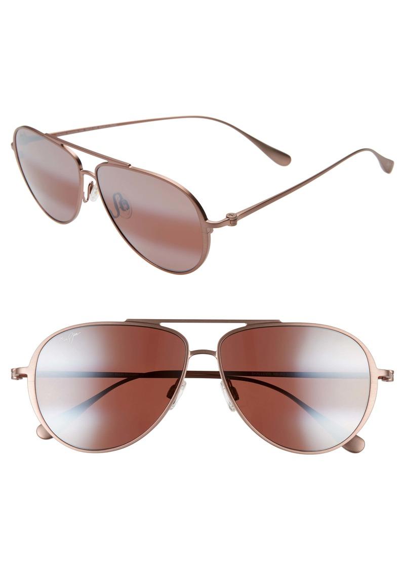 Maui Jim Shallows PolarizedPlus®2 59mm Aviator Sunglasses