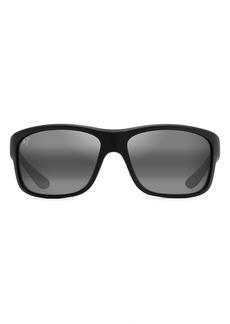 Maui Jim Southern Cross PolarizedPlus2® 63mm Wraparound Sunglasses