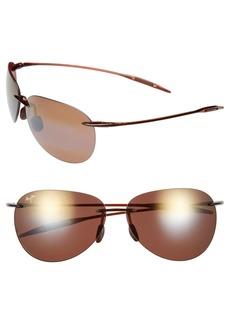 Maui Jim Sugar Beach 62mm PolarizedPlus2® Rimless Sunglasses