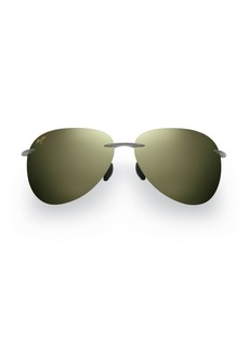 Maui Jim Sugar Beach Polarized Aviator Sunglasses