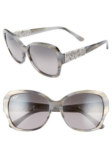 Maui Jim Swaying Palms 57mm PolarizedPlus2® Butterfly Sunglasses