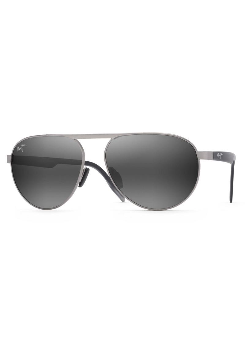 Maui Jim Swinging Bridges 61mm Polarized Aviator Sunglasses