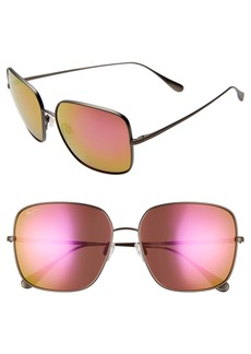 Maui Jim Triton 61mm PolarizedPlus2® Mirrored Square Sunglasses