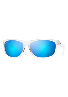 Maui Jim Tumbleland 62mm Polarized Oversize Sunglasses