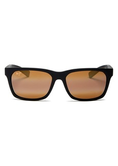 Maui Jim Unisex Boardwalk Polarized Square Sunglasses, 55mm
