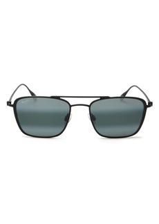 Maui Jim Unisex Ebb & Flow Polarized Square Sunglasses, 54mm