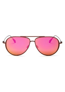 Maui Jim Unisex Shallows Polarized Aviator Sunglasses, 52mm