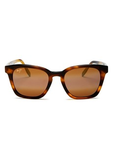 Maui Jim Unisex Shave Ice Polarized Square Sunglasses, 52mm