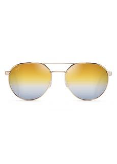 Maui Jim Waterfront 55mm PolarizedPlus2® Gradient Round Sunglasses