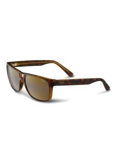 Maui Jim Waterways Polarized Rectangle Sunglasses