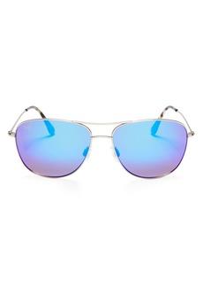 Maui Jim Unisex Cliff House Polarized Brow Bar Aviator Sunglasses, 59mm