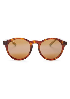 Maui Jim Unisex Polarized Mirrored Round Sunglasses, 50mm