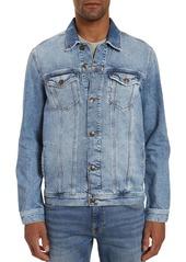 Mavi Drake Cotton Regular Fit Denim Jacket in Light Authentic Vintage