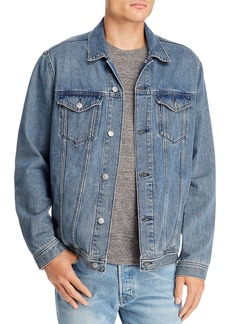 Mavi Drake Slim Fit Denim Jacket in Mid Indigo Vintage