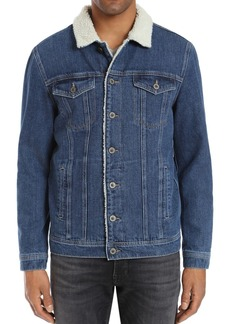 Mavi Frank Sherpa-Lined Denim Jacket
