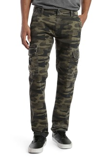 Mavi Jeans Marcus Slim Straight Leg Cargo Pants (Military Camo)