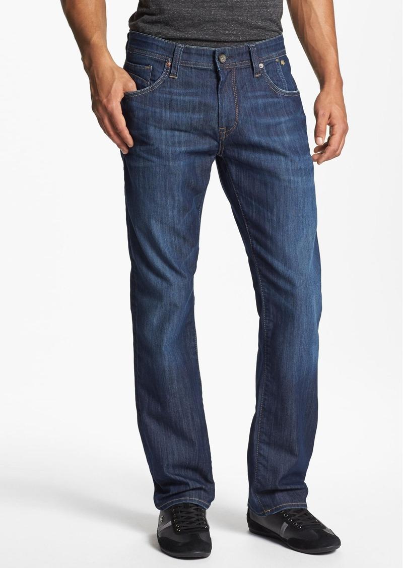 mavi mavi jeans 39 zach 39 straight leg jeans dark maui. Black Bedroom Furniture Sets. Home Design Ideas