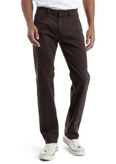 Mavi Jeans Zach Straight Leg Twill Pants (Black Coffee Sateen)