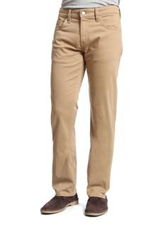 Mavi Zach British Khaki Twill Straight-Leg Pants