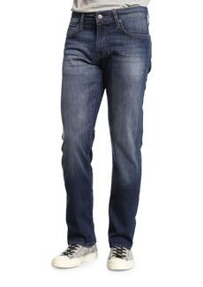 Mavi Zach Dark Brushed Williamsburg Straight-Leg Jeans