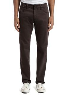 Mavi Zach Straight Fit Pants in Black Coffee Sateen