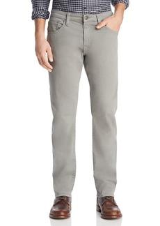Mavi Zach Straight Fit Pants in Gray Twill
