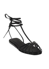 Max Mara 10mm Flora Leather T-bar Sandals