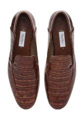 Max Mara 10mm Larisa Croc Embossed Leather Loafer