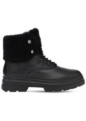 Max Mara 30mm Harish Leather & Fur Hiking Boots