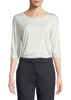 Max Mara 3/4-Sleeve Jersey Top