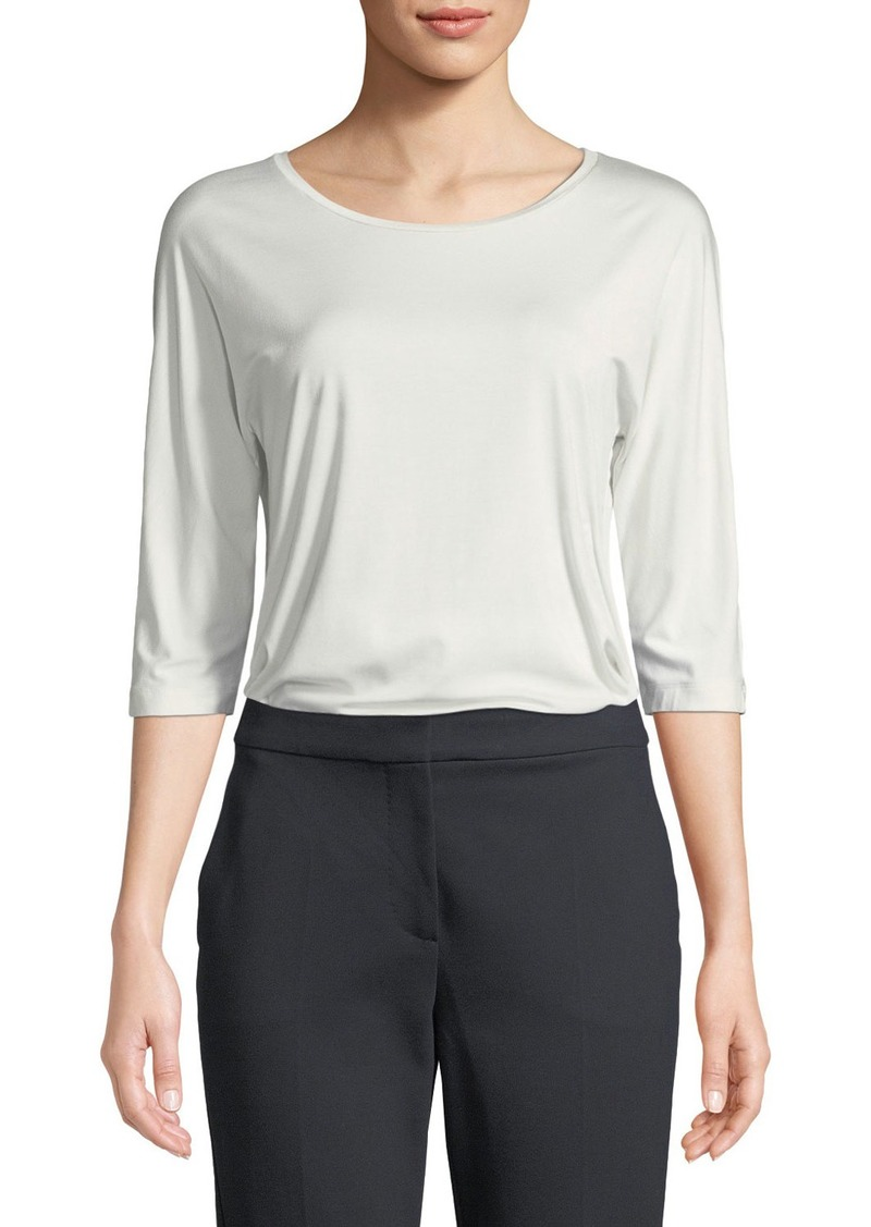 Max Mara 3/4-Sleeve Jersey Top