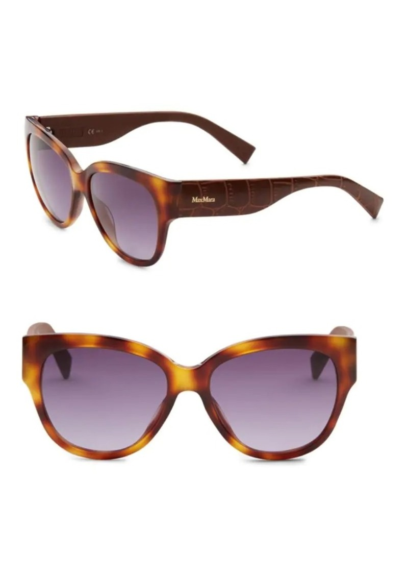 Max Mara 54MM Croc-Embossed Sunglasses