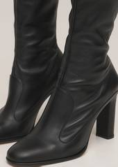 Max Mara 90mm Adela Leather Ankle Boots