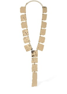 Max Mara Agiato Embossed Multi Medallion Necklace
