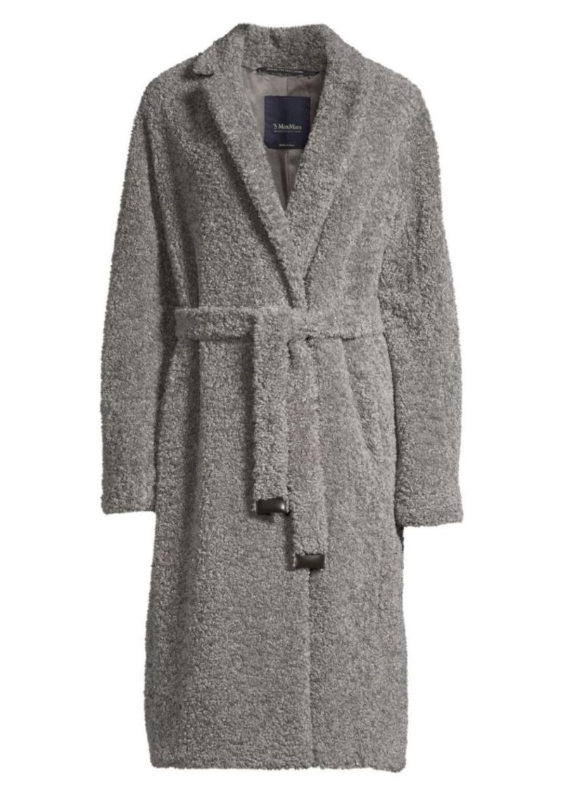 Max Mara Agiato Faux-Shearling Belted Coat