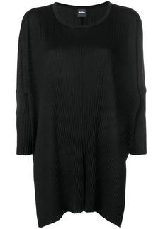 Max Mara asymmetric plissé jersey top