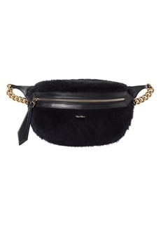 Max Mara Banane 2 Fur Effect Wool Blend Belt Bag