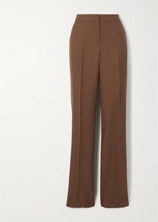 Max Mara Bea Camel Hair And Silk-blend Straight-leg Pants