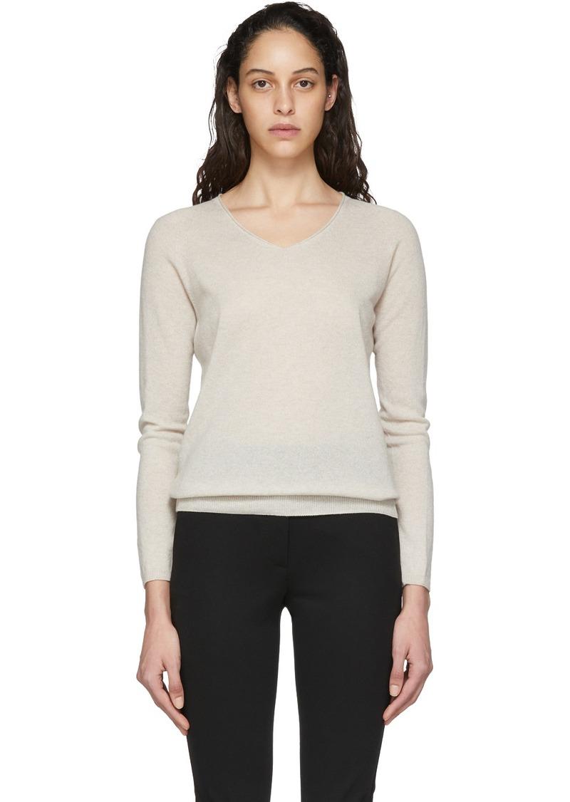 Max Mara Beige Vino V-Neck Sweater