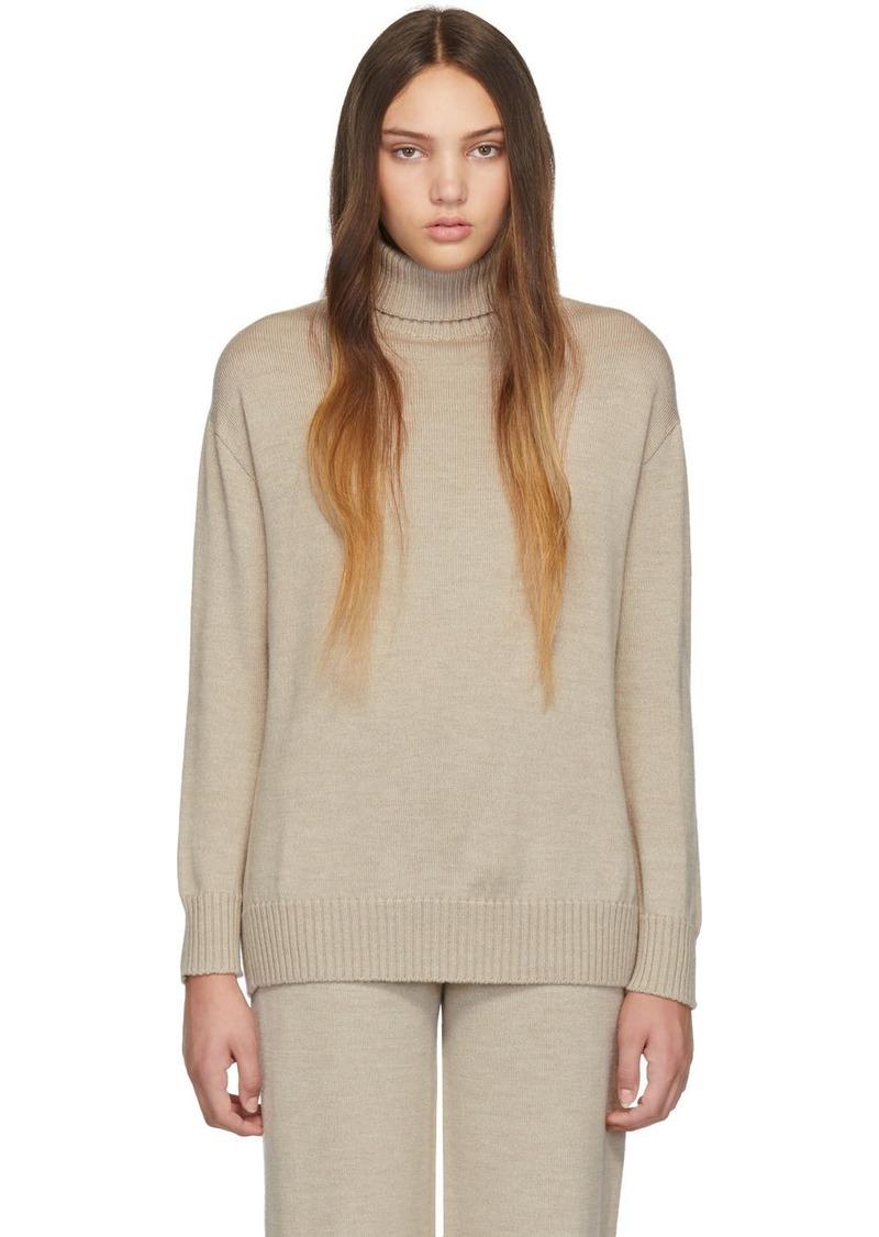 Max Mara Beige Woolmark Certo Sweater