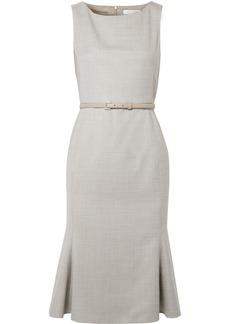 Max Mara Belted Wool-blend Dress