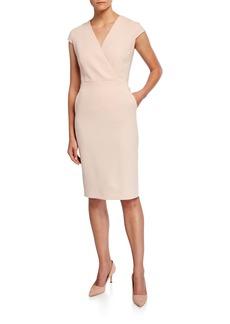 Max Mara Bill Cap-Sleeve Belted Dress