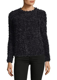 Max Mara Bleu Textured Crewneck Sweater