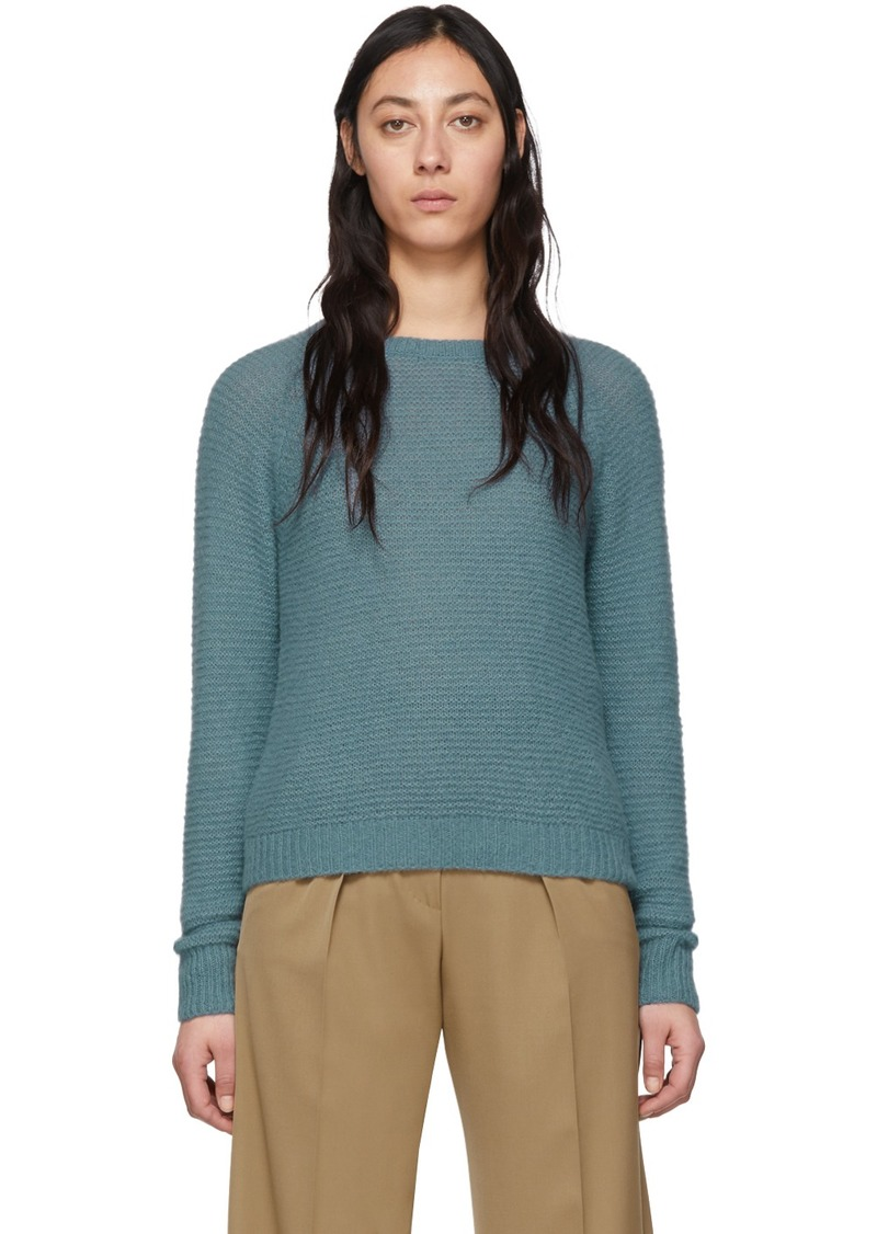 Max Mara Blue Cashmere & Silk Ciad Sweater