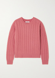 Max Mara Breda Cable-knit Wool And Cashmere-blend Sweater
