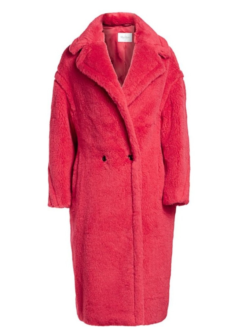 Bright Alpaca Fur, Virgin Wool & Silk Teddy Coat