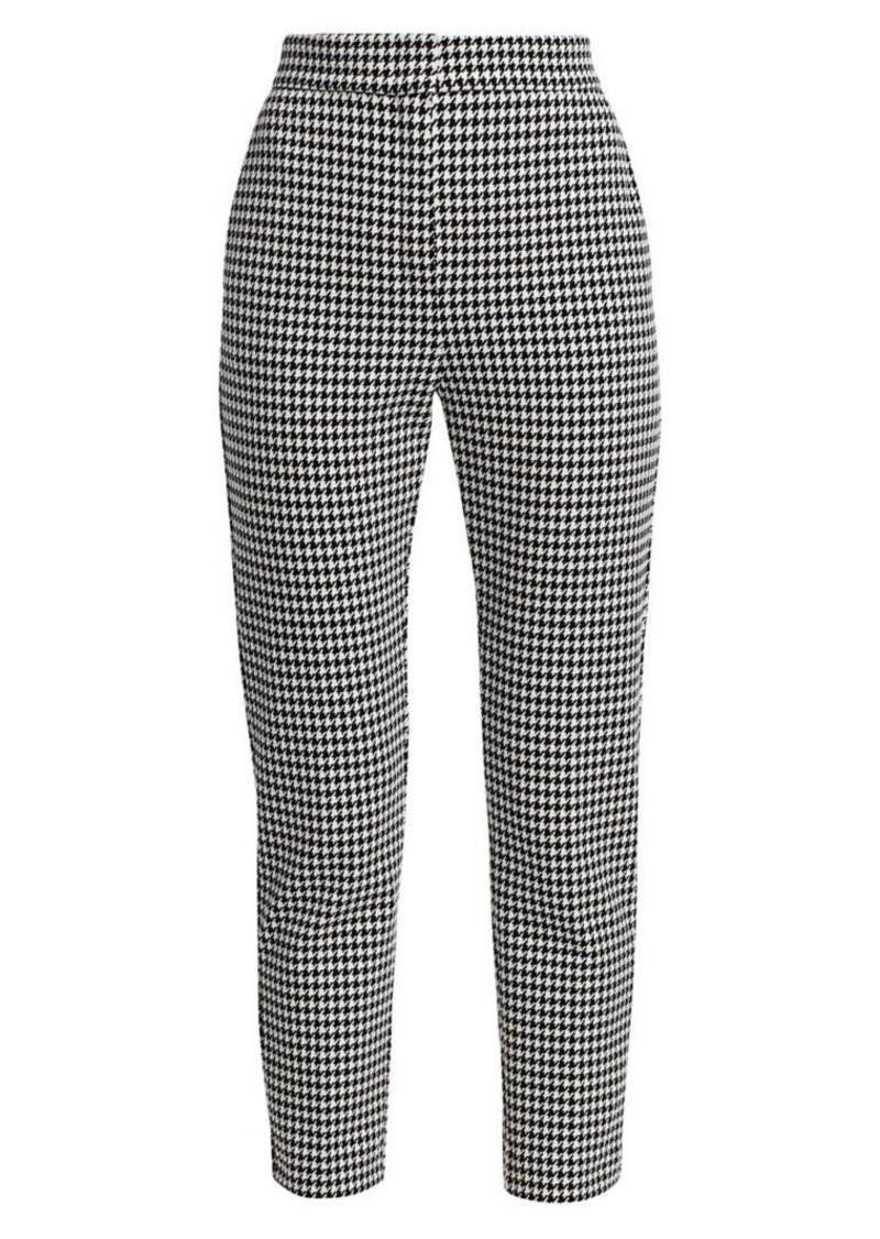 Max Mara Bruno Cropped Houndstooth Jersey Pants