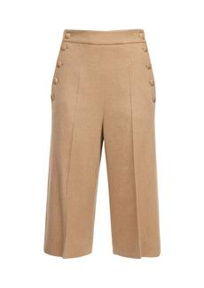 Max Mara Camel Drap Bermuda Shorts