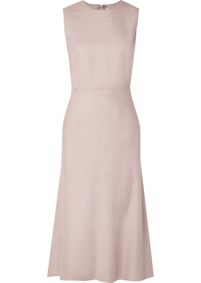Max Mara Camel Hair And Silk-blend Midi Dress