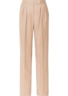 Max Mara Camel Hair And Silk-blend Wide-leg Pants